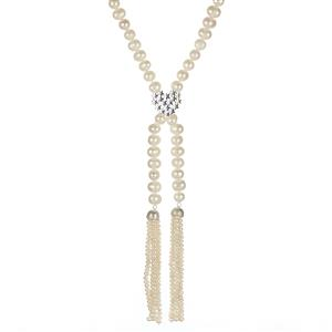 Kaori Cultured Pearl Sterling Silver Endless Necklace