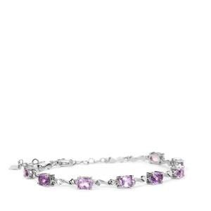 5.6ct Bahia Amethyst Sterling Silver Bracelet
