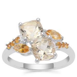 Serenite Ring with Diamantina Citrine in Sterling Silver 2.27cts