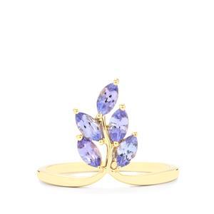 AA Tanzanite Ring  in 10k Gold 0.84ct