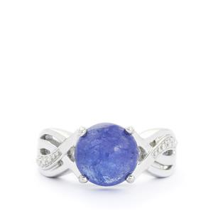 5.56ct Tanzanite Sterling Silver Ring