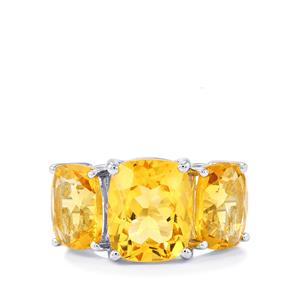 8ct Diamantina Citrine Sterling Silver Ring