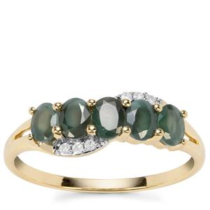 Alexandrite Ring with Diamond in 9K Gold 0.92ct