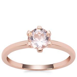 Nigerian Morganite Ring in 9K Rose Gold 0.76ct