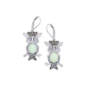 Amhara Opal & Tanzanite Sterling Silver Earrings ATGW 3.52cts