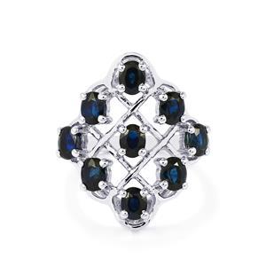 2.88ct Australian Blue Sapphire Sterling Silver Ring