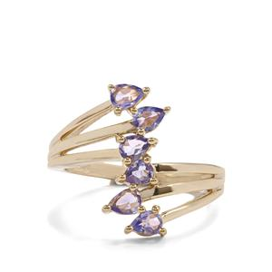 Tanzanite Ring  in Gold Plated Sterling Silver 0.64ct