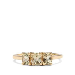 1.12ct Csarite® 10K Gold Ring