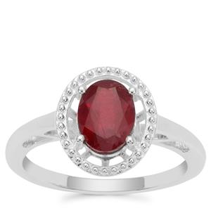 Malagasy Ruby Ring in Sterling Silver 1.92cts