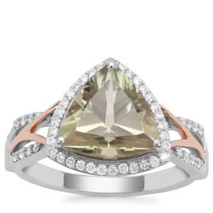 Csarite® Ring with Diamond in 18K Two Tone Gold 3.86cts
