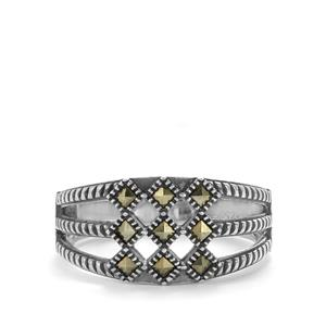 Natural Marcasite Sterling Silver Jewels of Valais Ring ATGW 0.26ct