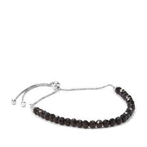 Black Spinel Silder Bracelet in Sterling Silver 15cts
