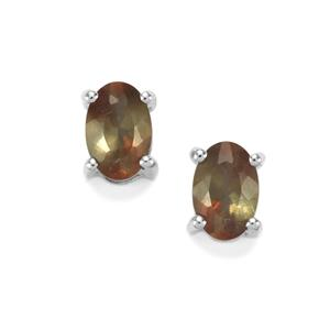 0.89ct Sopa Andalusite Sterling Silver Earrings