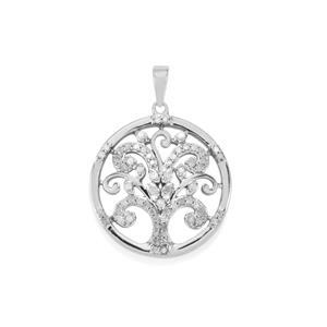 1/2ct Diamond Sterling Silver Tree of Life Pendant