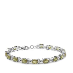 13.67ct Ambilobe Sphene Sterling Silver Bracelet