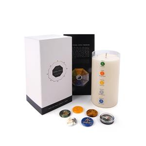 Feng Shui Candle with Five Elements Gemstones ATGW 225cts