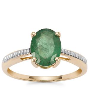 Minas Gerais Emerald Ring in 9K Gold 1.68cts