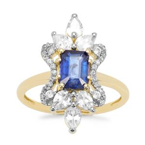 Nilamani Ring with White Zircon in 9K Gold 2.85cts