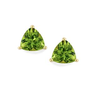 Changbai Peridot Earrings in 9K Gold 2.61cts