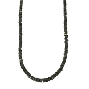 137ct Black Spinel Sterling Silver Graduated Bead Necklace