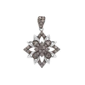 Grey Diamond Pendant in Sterling Silver 0.51ct