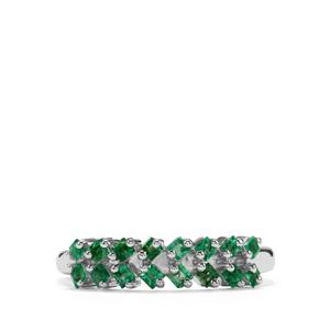0.52ct Luhlaza Emerald Sterling Silver Ring