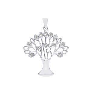 0.48ct Aquamarine Sterling Silver Pendant