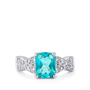 Batalha Topaz Ring with White Topaz in Sterling Silver 2.57cts