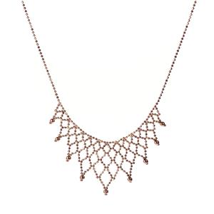 "17"" 9K Gold Altro Diamond Cut Ball Fringe Necklace 8.40g"
