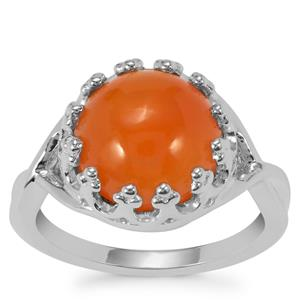 Carnelian Ring in Sterling Silver 4.88cts