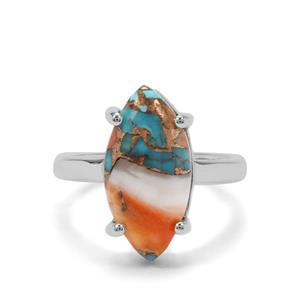 6.42ct Oyster Turquoise Sterling Silver Ring
