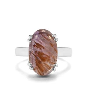 7.26ct Cacoxenite Sterling Silver Aryonna Ring