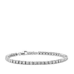 Diamond Bracelet in Sterling Silver 0.18ct