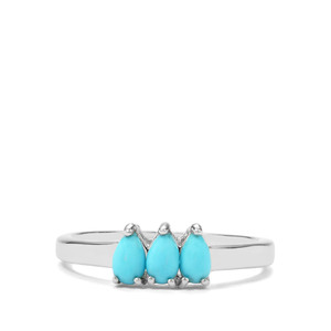 0.50ct Sleeping Beauty Turquoise Sterling Silver Ring