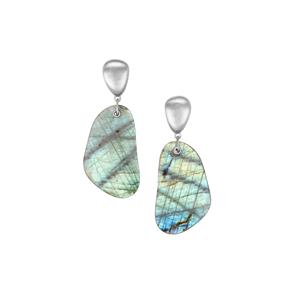 Labradorite Earrings in Sterling Silver 47.26cts