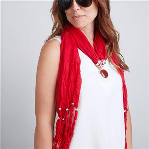 Red Onyx Beaded Scarf/Necklace ATGW 55cts