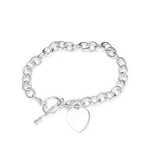 Sterling Silver Altro Belcher T-Bar Clasp Bracelet 15.40g