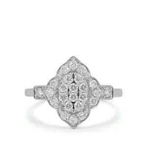 Diamond Ring in Platinum 950 0.51ct