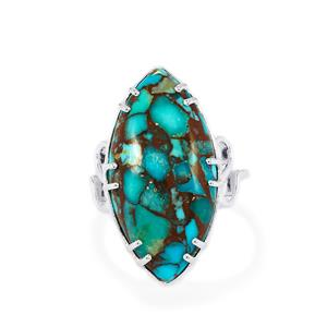 12.42ct Egyptian Turquoise Sterling Silver Ring