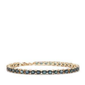 Nigerian Blue Sapphire Bracelet in 10K Gold 10.64cts