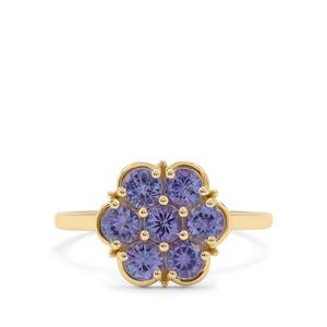 AA Tanzanite Ring in 9K Gold 1.30cts