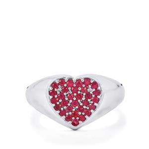 Siam Ruby Ring in Sterling Silver 0.54cts