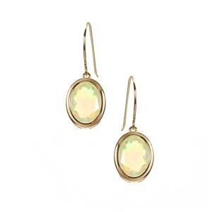 Ethiopian Opal Earrings in 9K Gold 2.13cts