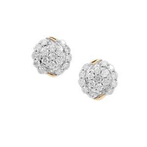 Canadian Diamond Earrings in 9K Gold 0.51ct