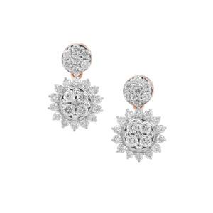 3/4ct Argyle Diamond 9K Rose Gold Earrings