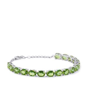 Fern Green Quartz Bracelet in Sterling Silver 19.90cts