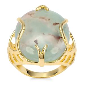 Aquaprase™ Ring in Gold Plated Sterling Silver 19.44cts