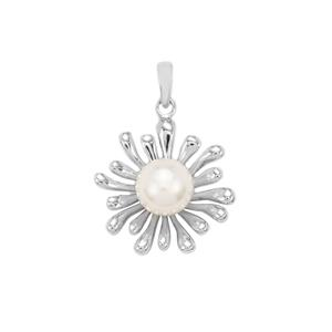 South Sea Cultured Pearl Pendant in Sterling Silver (10mm)