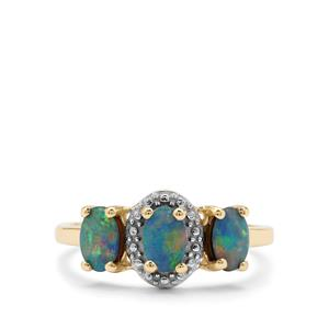 Crystal Opal on Ironstone 9K Gold Ring