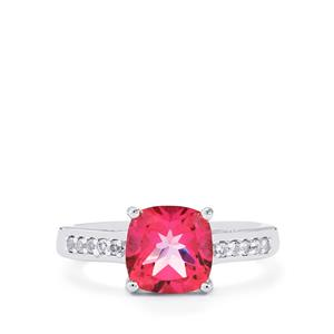 2.64ct Mystic Pink & White Topaz Sterling Silver Ring